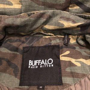 Camo coat with detachable hood